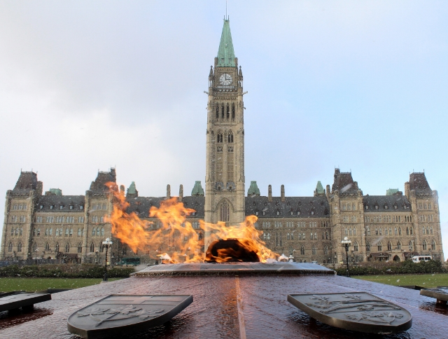 Parliament-building-flame-ottawa